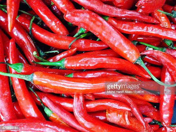 Full Frame Of Red Chillies