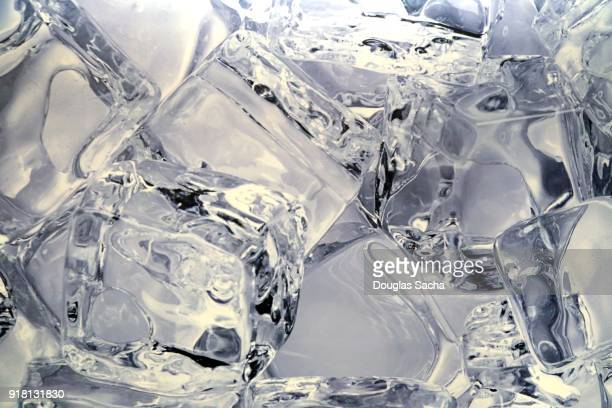 Full frame of refreshing water in cold ice