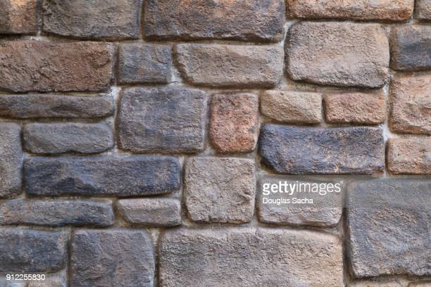 full frame of rock pavers on a driveway - ugly wallpaper stock photos and pictures