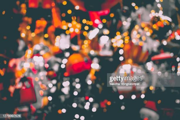 full frame of shot of illuminated christmas decoration on christmas tree -  キリスト教 伝来の地  ストックフォトと画像