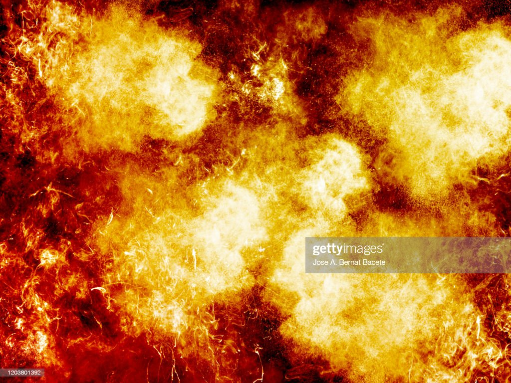 Full Frame Of Smoke And Fire On A Black Background High Res Stock Photo Getty Images