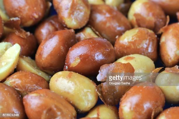 Full frame of Spanish Peanuts (Arachis hypogaea)