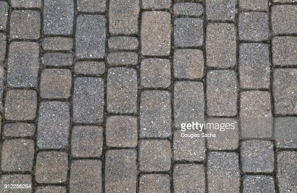 Full frame of Stone pavers on a walkway