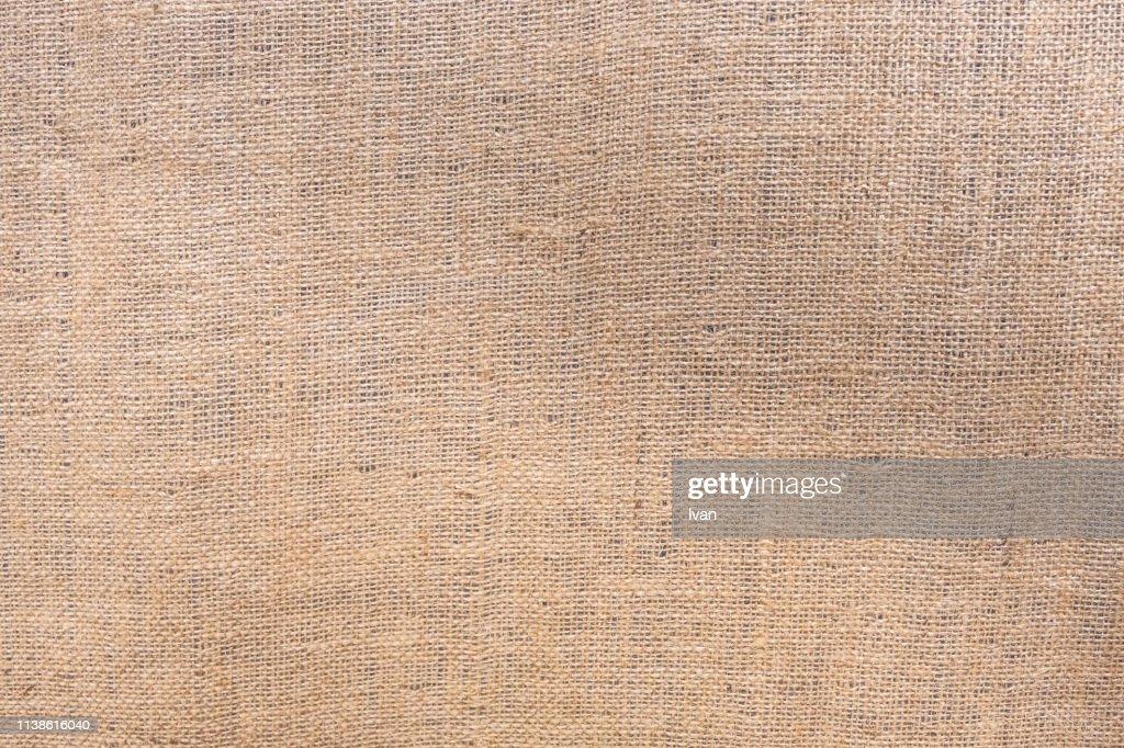 Full frame of texture, canvas, jute bag, linen or hemp sack : ストックフォト
