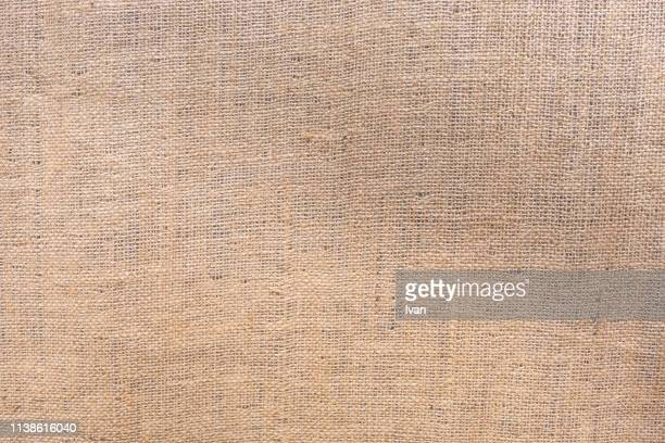full frame of texture, canvas, jute bag, linen or hemp sack - 麻 ストックフォトと画像