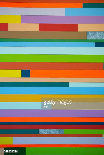 full frame of texture, colorful vertical straight line - colors of rainbow in order stock pictures, royalty-free photos & images