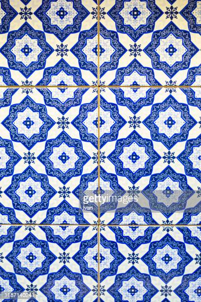 full frame of texture, colorful wall tiles - mediterranean culture stock pictures, royalty-free photos & images