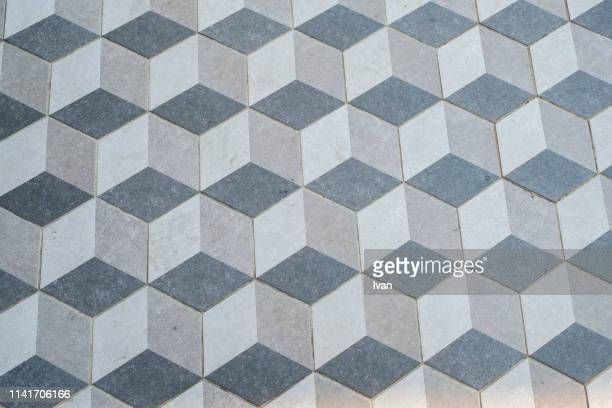 full frame of texture, geometric cube abstract background - zweidimensionale form stock-fotos und bilder