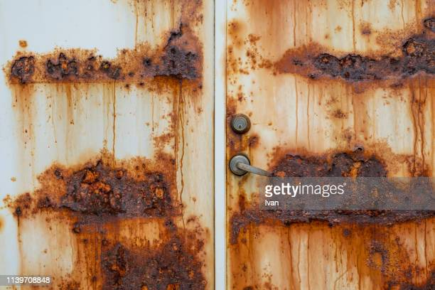 full frame of texture, rusty metal texture - rusty stock pictures, royalty-free photos & images