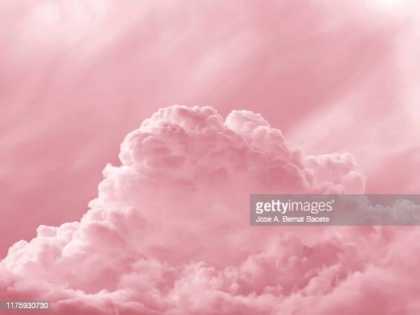 full frame of the abstract background with colorful clouds on a pink background - pink stock pictures, royalty-free photos & images