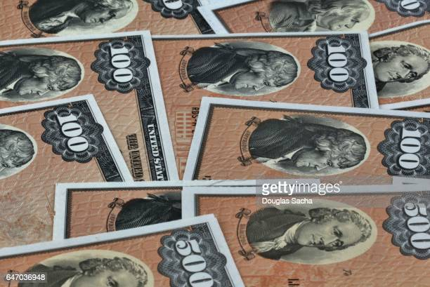 Full frame of US Patriot Treasury Bonds