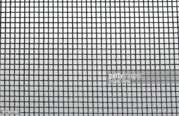 Full frame of window screen material