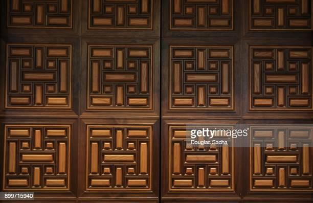 Full Frame of wooden ornate pattern