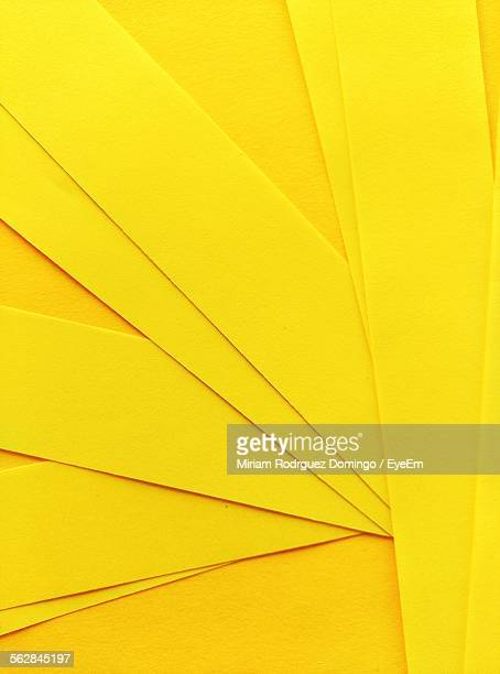 Full Frame Of Yellow Papers