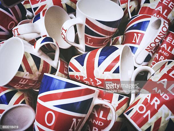 Full Frame Short Of British Flag Mugs With Text