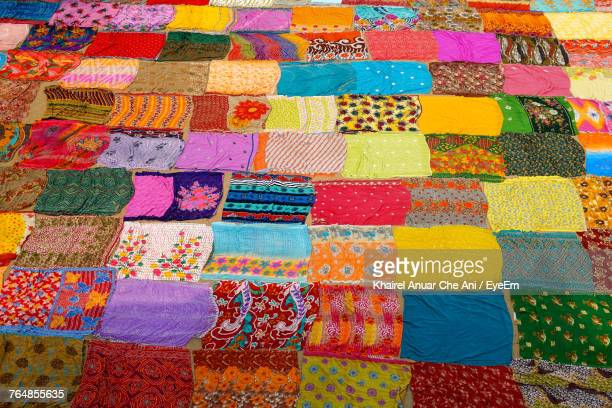 Full Frame Shot Colorful Fabric For Sale