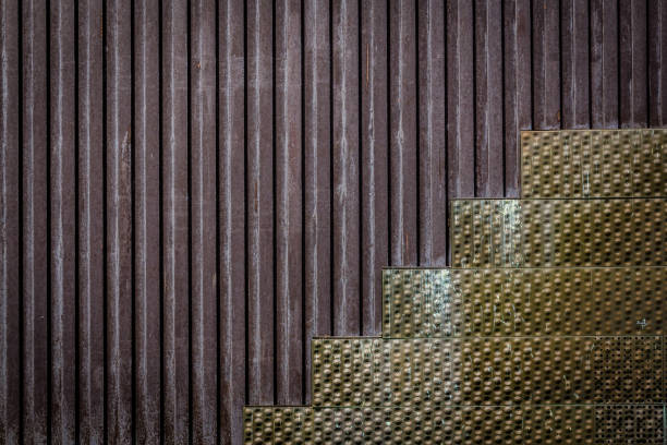 Full Frame Shot Of Abstract Geometric Architecture Pattern On Wall