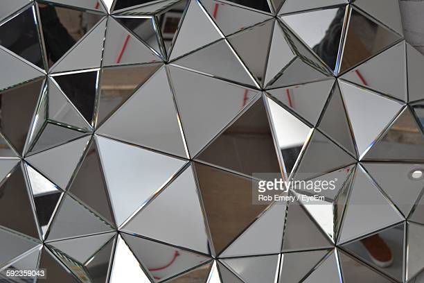 full frame shot of abstract mirror - triangle stock photos and pictures