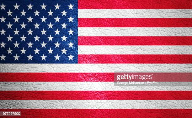 full frame shot of american flag painted on leather - american flag background stock pictures, royalty-free photos & images
