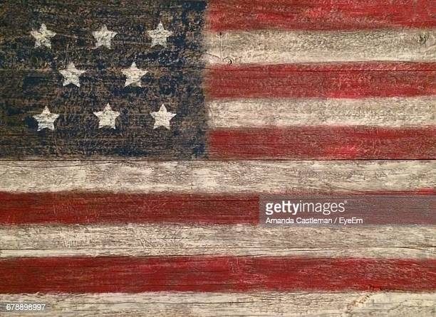 full frame shot of american flag painted on wooden pallet - american flag background stock pictures, royalty-free photos & images