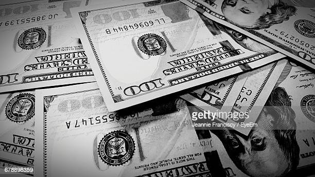 Full Frame Shot Of American One Hundred Dollar Bills
