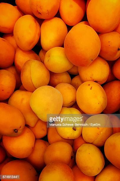 Full Frame Shot Of Apricot Fruits