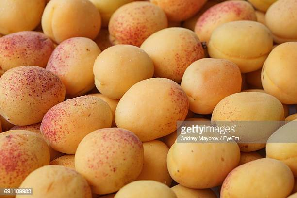 Full Frame Shot Of Apricots For Sale