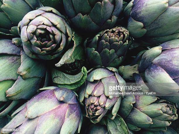 Full Frame Shot Of Artichokes