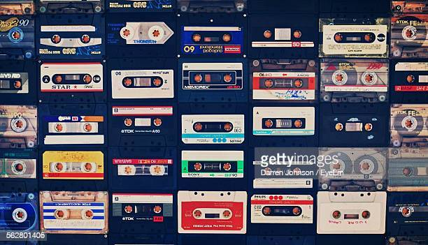 Full Frame Shot Of Audio Cassettes