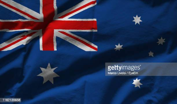 full frame shot of australian flag - australian flag stock pictures, royalty-free photos & images