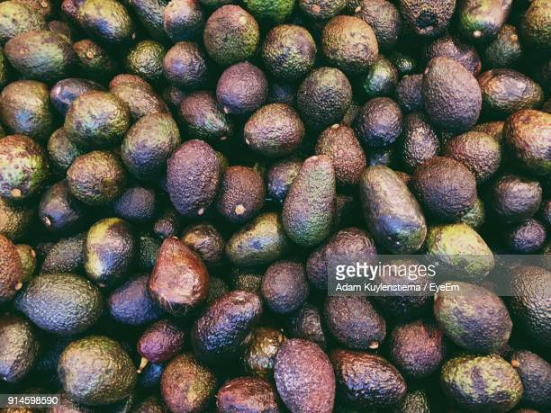 Full Frame Shot Of Avocados