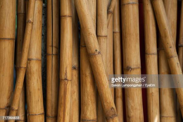 full frame shot of bamboo stack - bamboo - fotografias e filmes do acervo