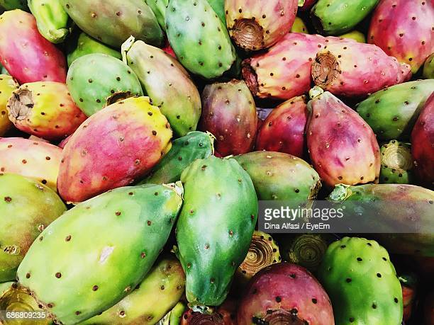 full frame shot of bananas - prickly pear cactus stock photos and pictures