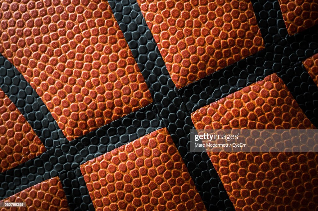 Full Frame Shot Of Basketball : Stock Photo