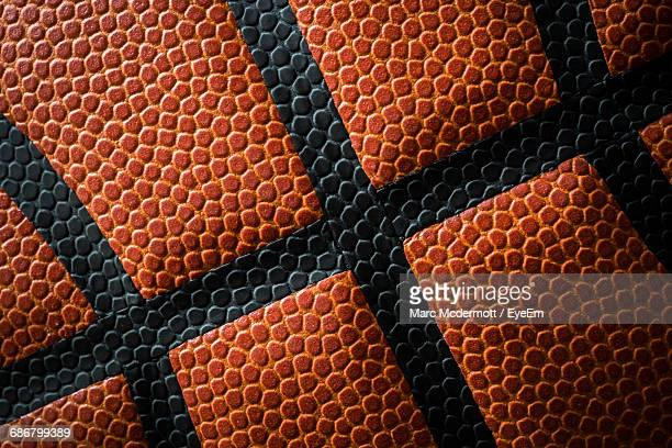 full frame shot of basketball - bola de basquete - fotografias e filmes do acervo