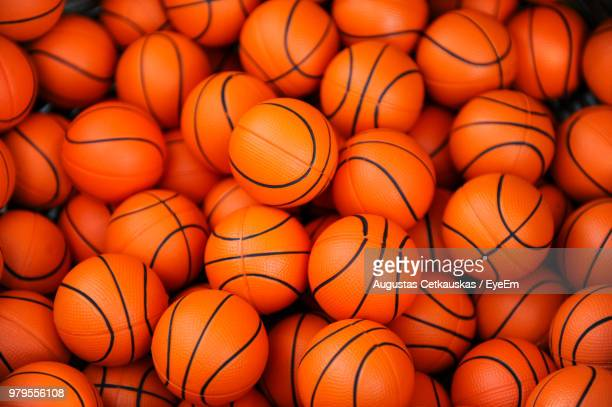 Full Frame Shot Of Basketballs For Sale In Store
