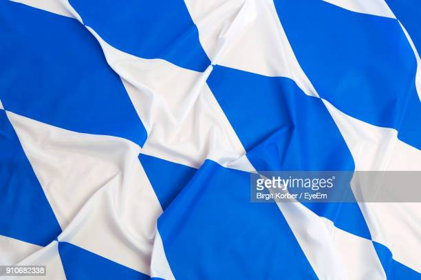 full frame shot of bavarian flag - flag texture stock photos and pictures