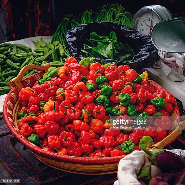Full Frame Shot Of Bell Pepper For Sale