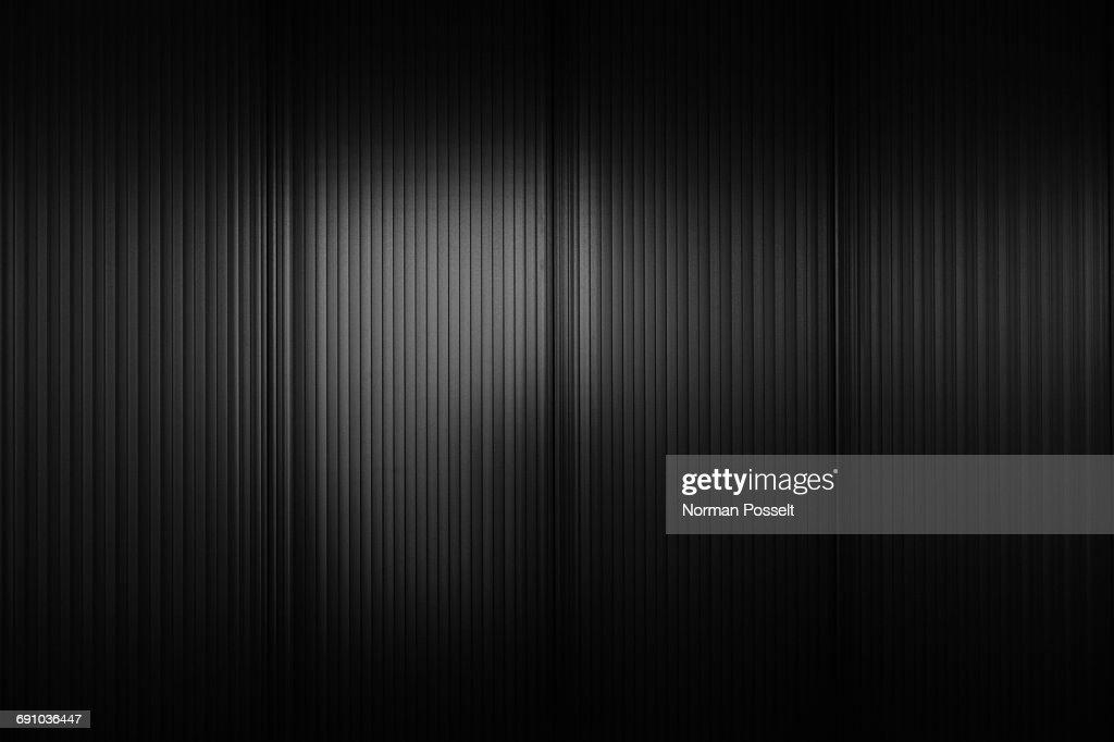 Full frame shot of black corrugated wall : Stock Photo