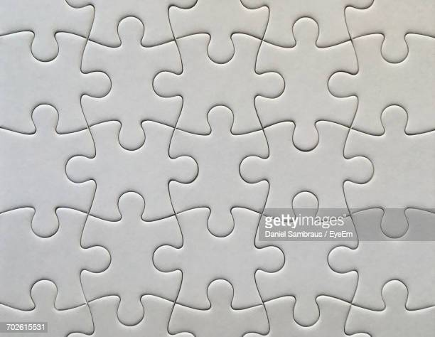 Full Frame Shot Of Blank Jigsaw Puzzle