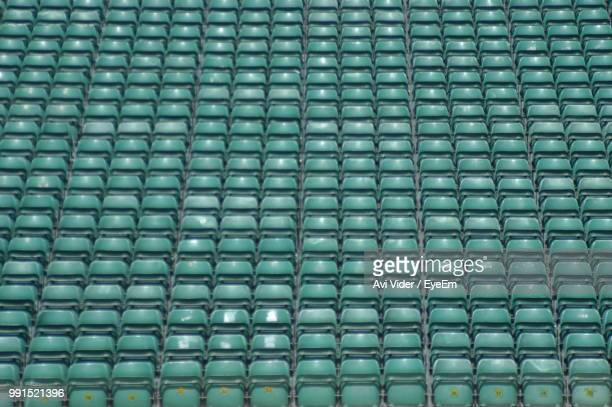 full frame shot of bleachers - bleachers stock pictures, royalty-free photos & images