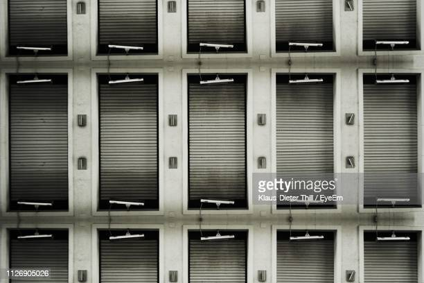 Full Frame Shot Of Blinds On Building