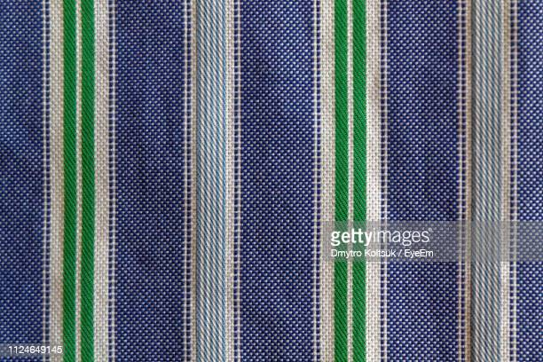 full frame shot of blue fabric - striped shirt stock pictures, royalty-free photos & images