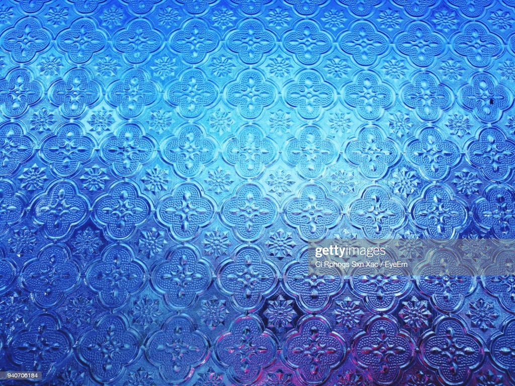 full frame shot of blue patterned wallpaper stock photo getty images