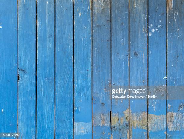 Full Frame Shot Of Blue Wooden Wall
