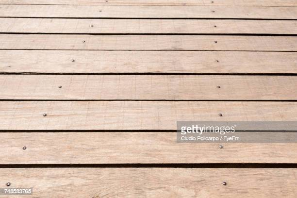 full frame shot of boardwalk - floorboard stock photos and pictures