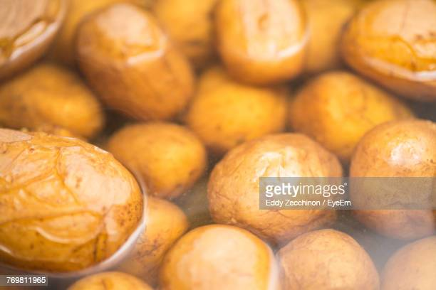 full frame shot of boiled potatoes - boiled stock pictures, royalty-free photos & images