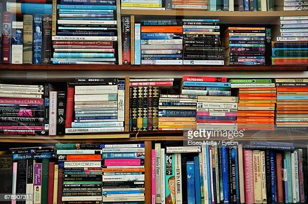 Full Frame Shot Of Books In Bookshelf
