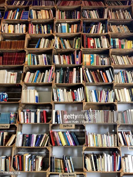 full frame shot of books in shelf - eyeem collection stock pictures, royalty-free photos & images