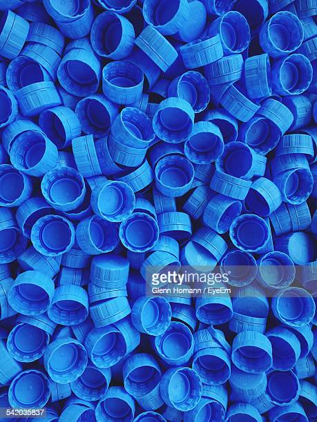 full frame shot of bottle caps - lid stock photos and pictures
